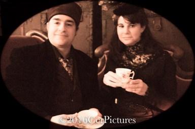 The Newts of Odd taking tea
